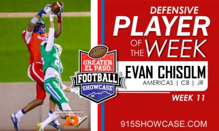 Defensive Player of The Week – Wk11