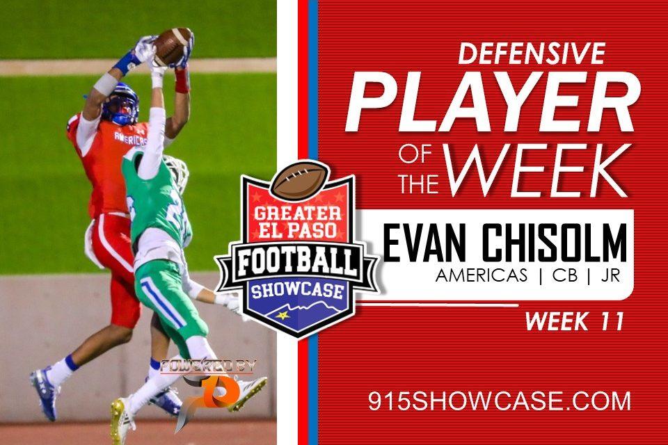 Defensive Player of The Week – Wk11