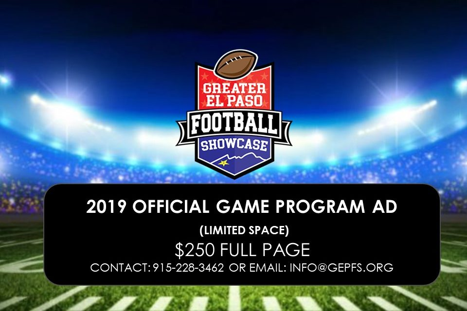 Official  2019 Game Program Ad
