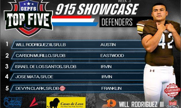 Top 5  defenders