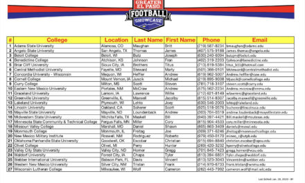 combine colleges attending and itinerary